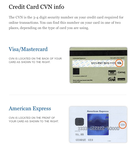 credit cards what is a cvn